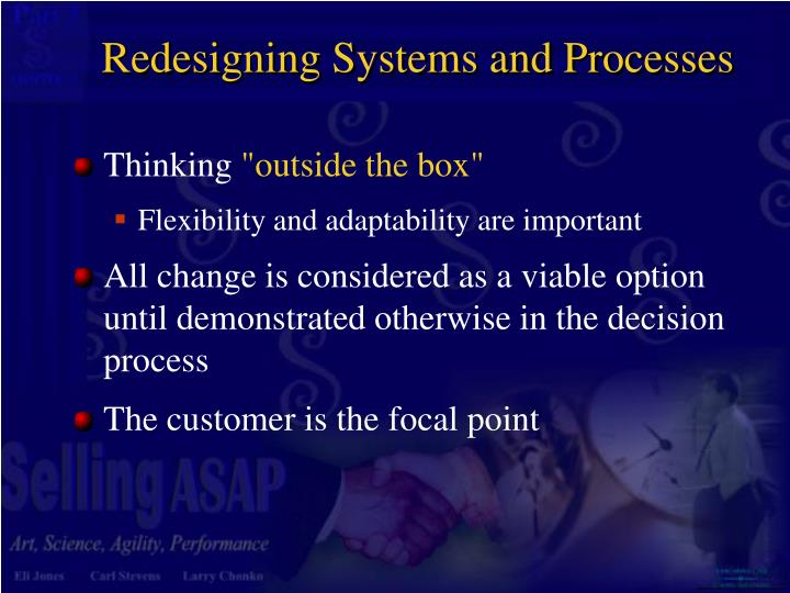Redesigning Systems and Processes