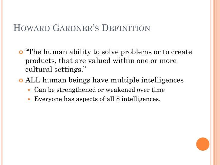 Howard Gardner's