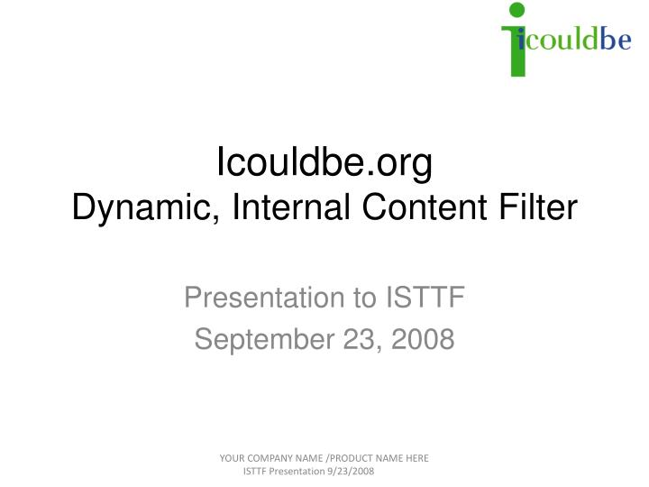 Icouldbe org dynamic internal content filter
