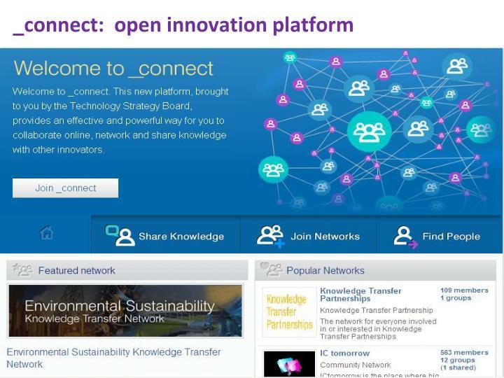 _connect:  open innovation platform