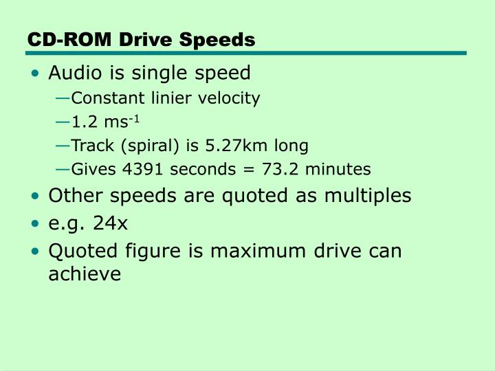 CD-ROM Drive Speeds