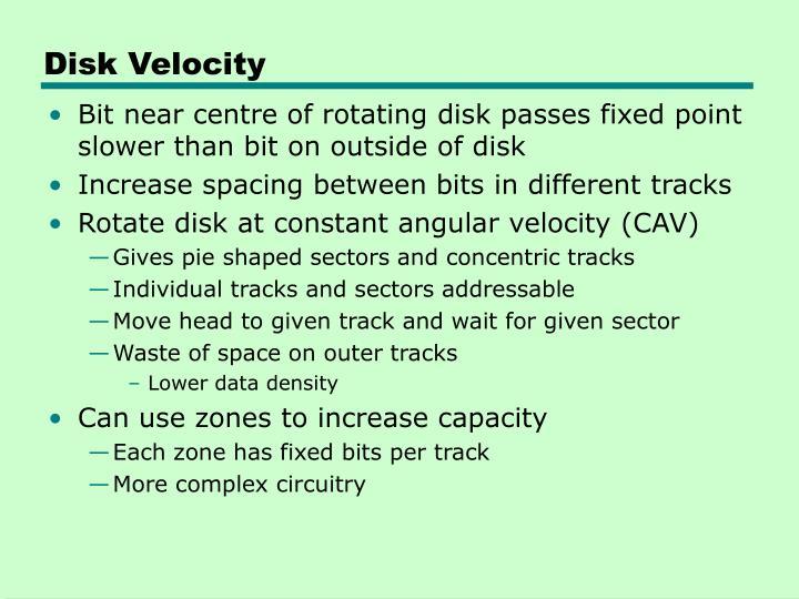 Disk Velocity