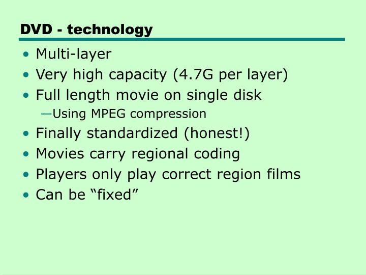 DVD - technology