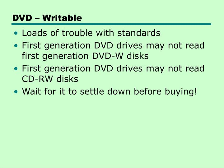DVD – Writable