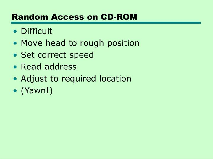 Random Access on CD-ROM