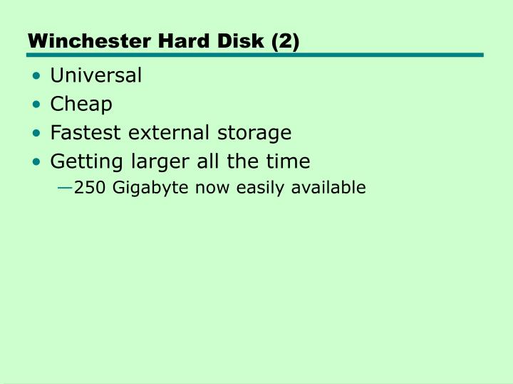 Winchester Hard Disk (2)