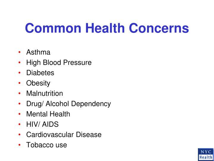 Common Health Concerns