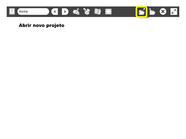 Abrir novo projeto