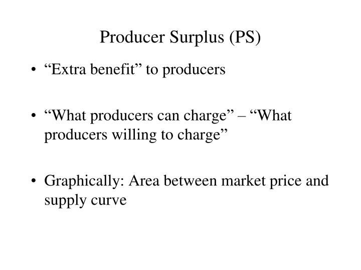 Producer Surplus (PS)