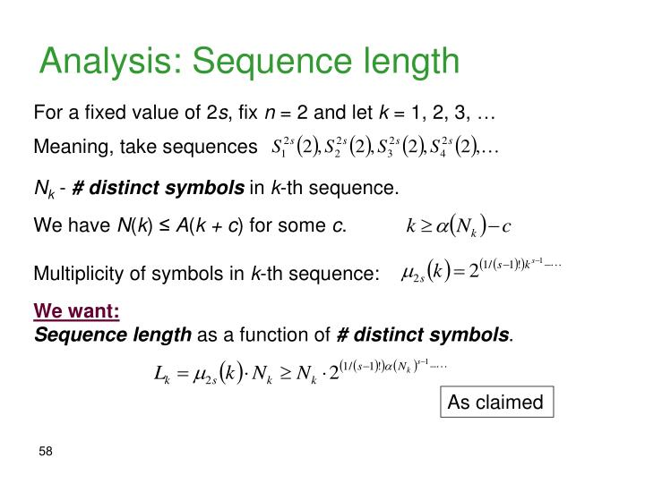 Analysis: Sequence length