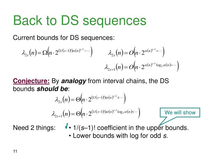 Back to DS sequences