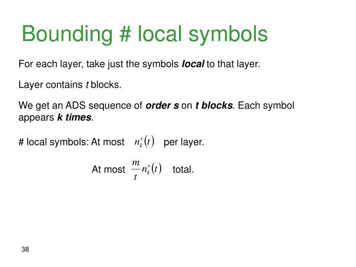 Bounding # local symbols
