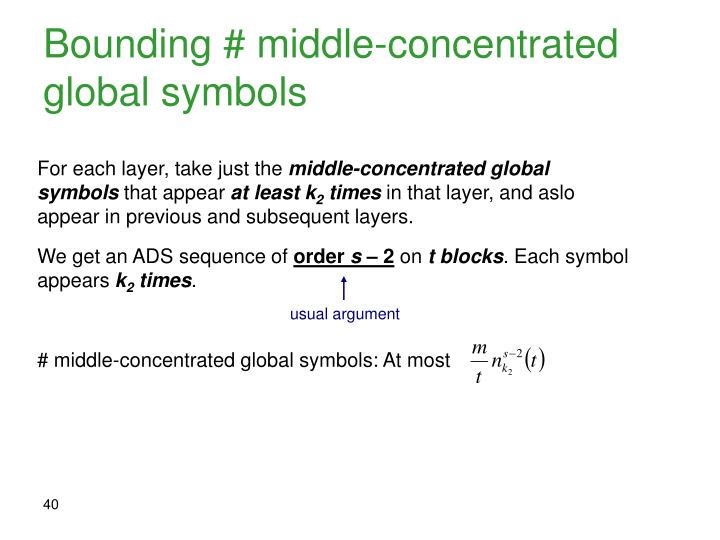 Bounding # middle-concentrated global symbols