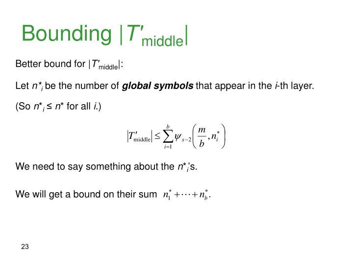 Bounding |