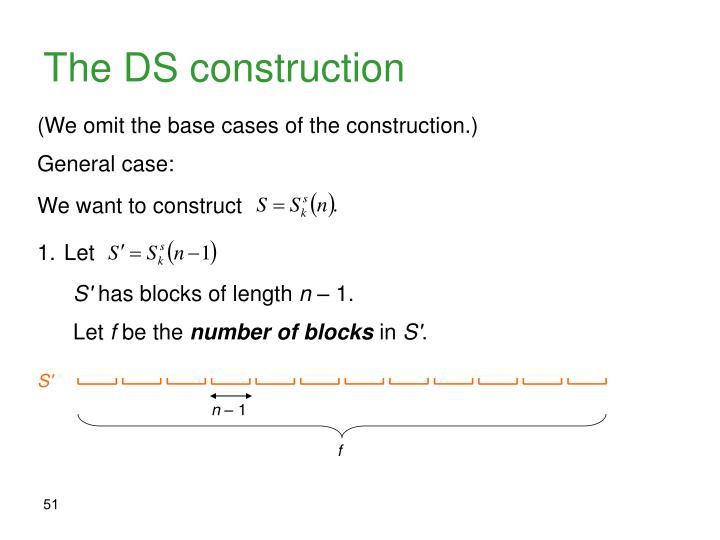 The DS construction
