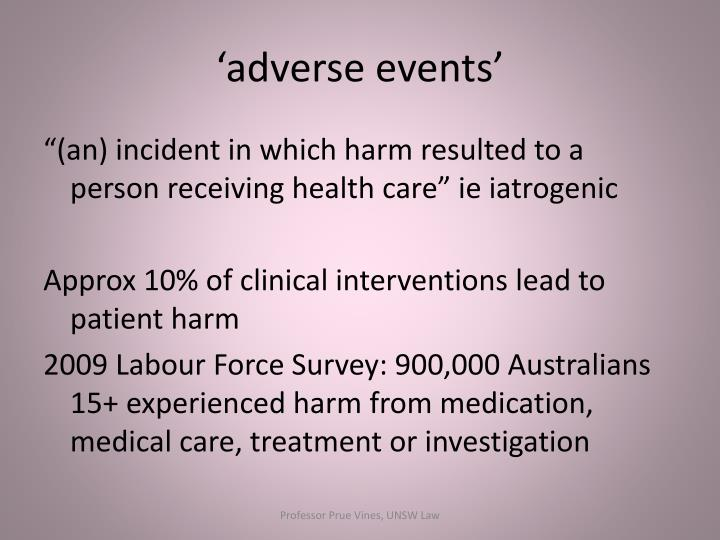 'adverse events'