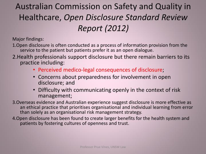 Australian Commission on Safety and Quality in Healthcare,