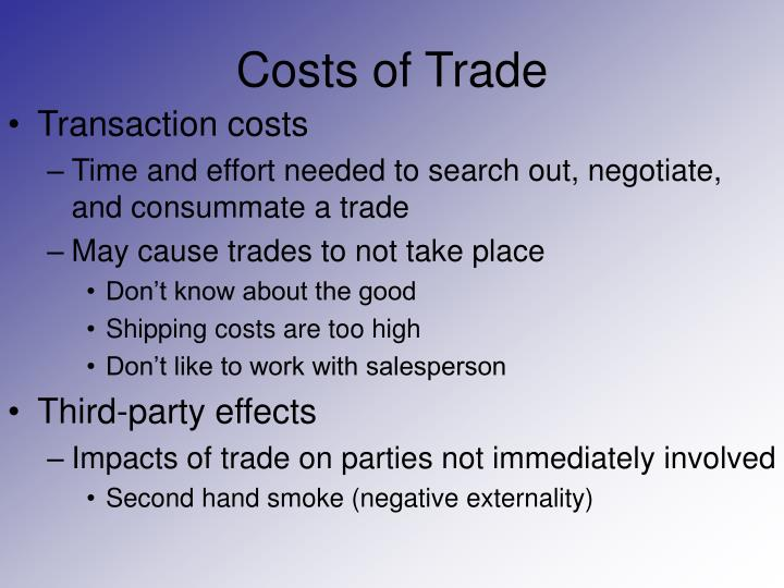 Costs of trade