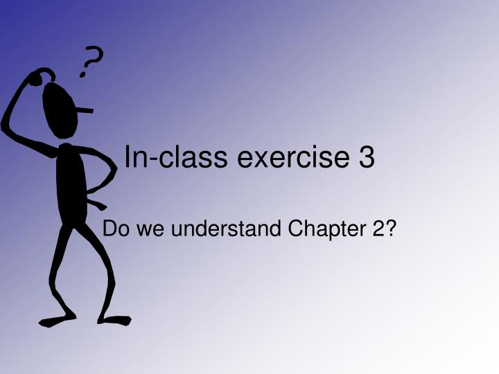 In-class exercise 3