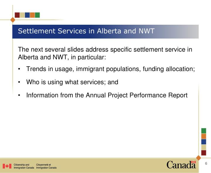 Settlement Services in Alberta and NWT
