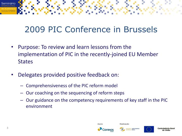 2009 pic conference in brussels
