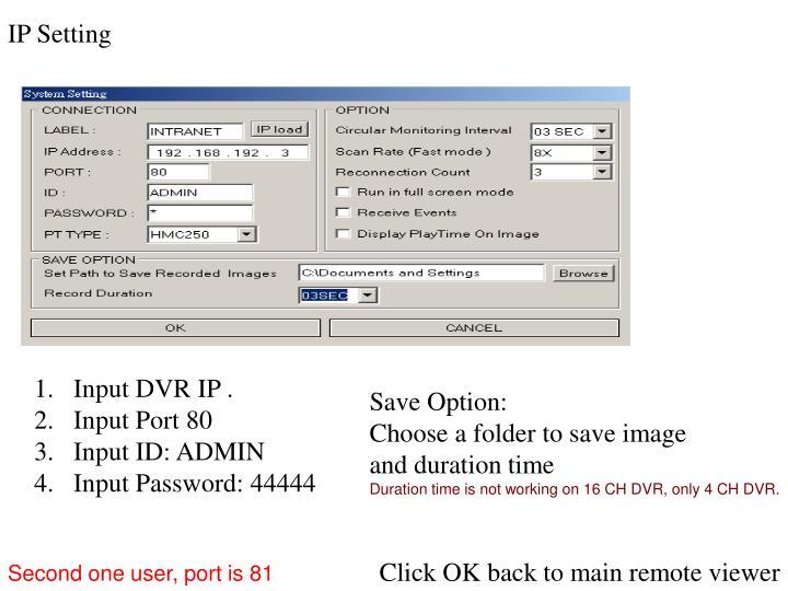 IP Setting
