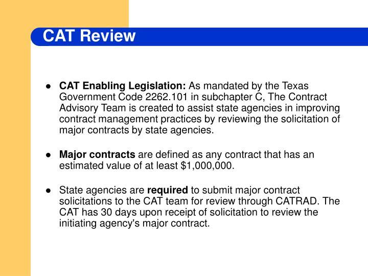 CAT Enabling Legislation:
