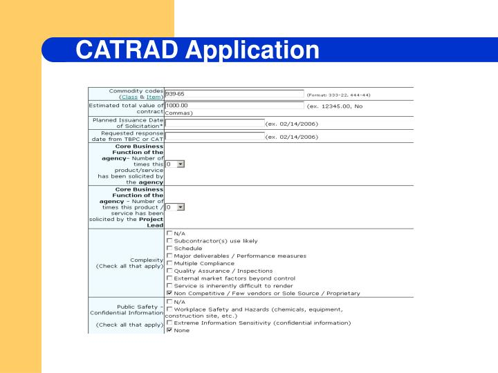 CATRAD Application