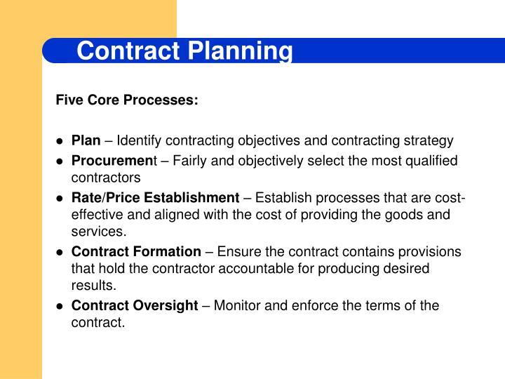 Five Core Processes: