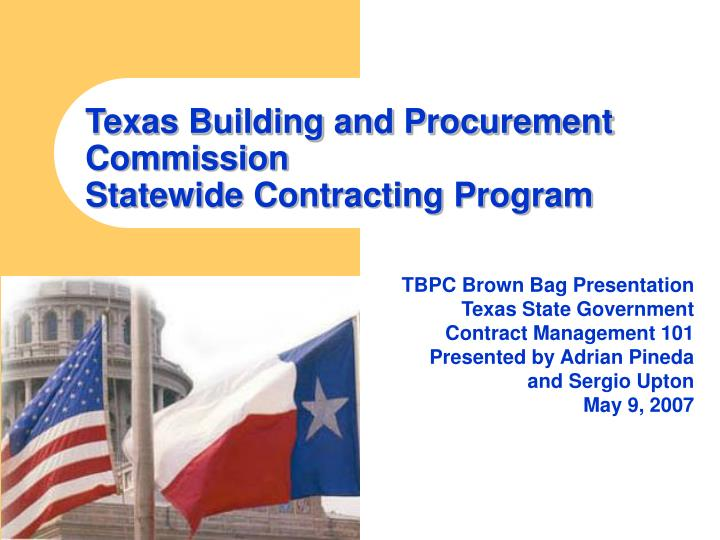 Texas building and procurement commission statewide contracting program
