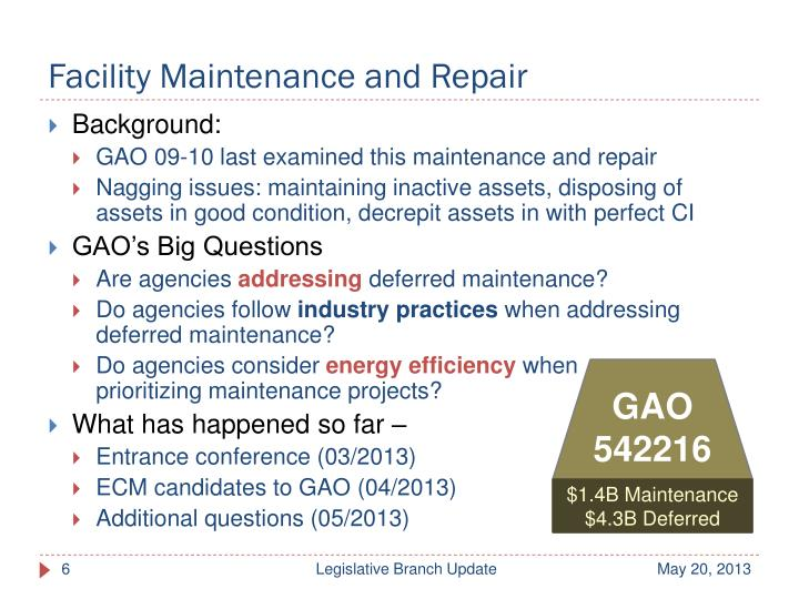 Facility Maintenance and Repair