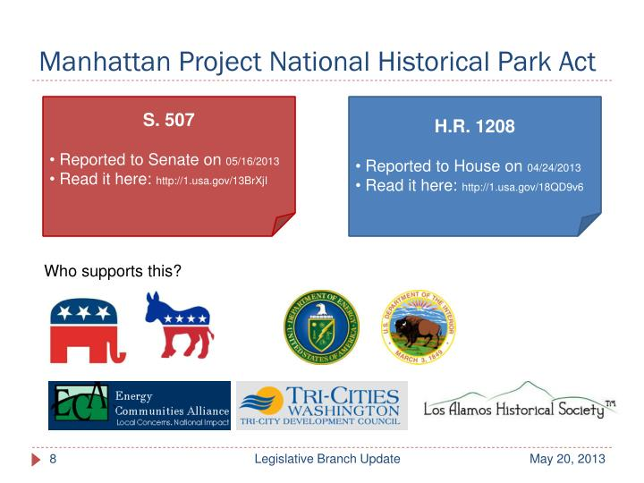 Manhattan Project National Historical Park Act