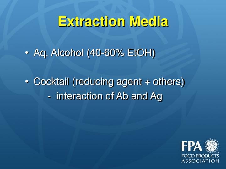 Extraction Media
