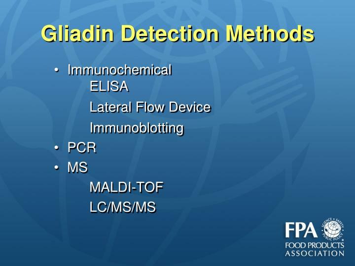 Gliadin Detection Methods
