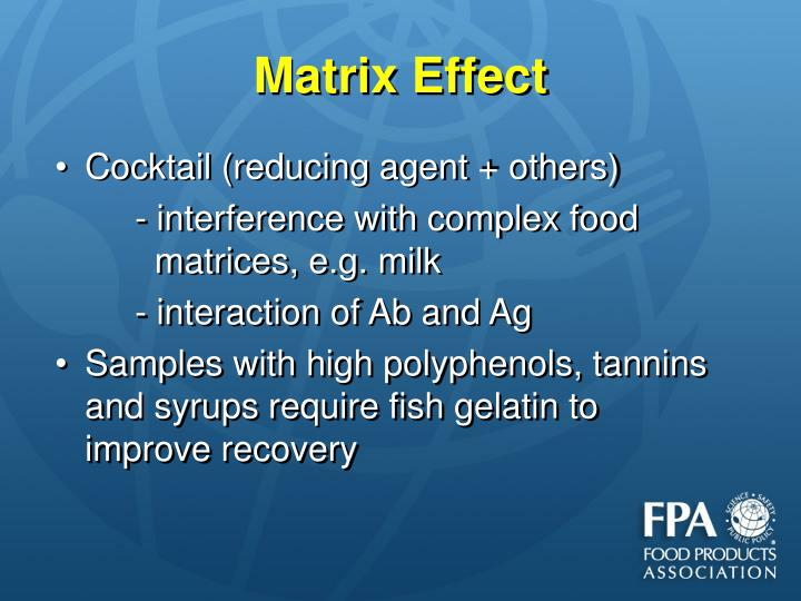 Matrix Effect