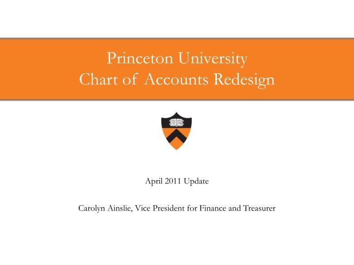 Princeton university chart of accounts redesign