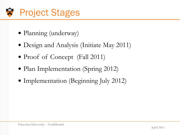 Project Stages