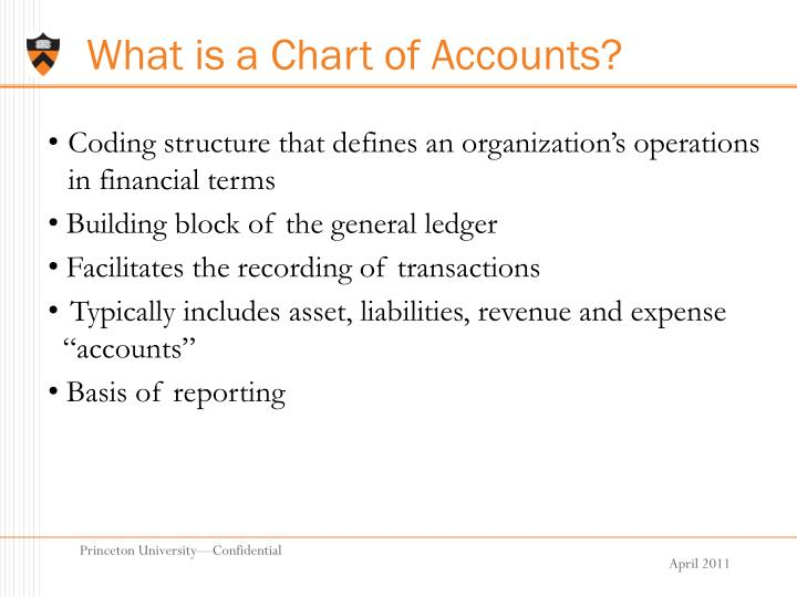 What is a Chart of Accounts?