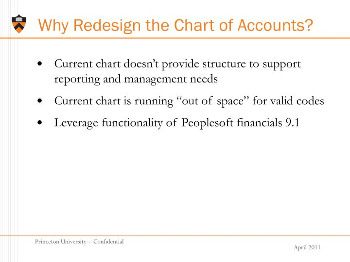 Why Redesign the Chart of Accounts?
