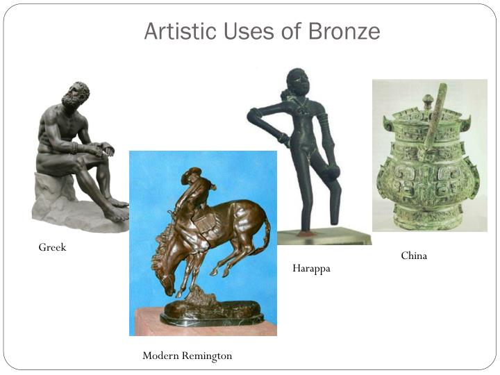 Artistic uses of bronze