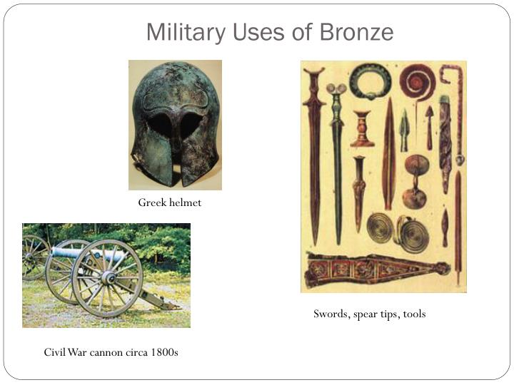 Military uses of bronze