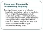 know your community community mapping