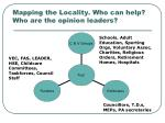 mapping the locality who can help who are the opinion leaders