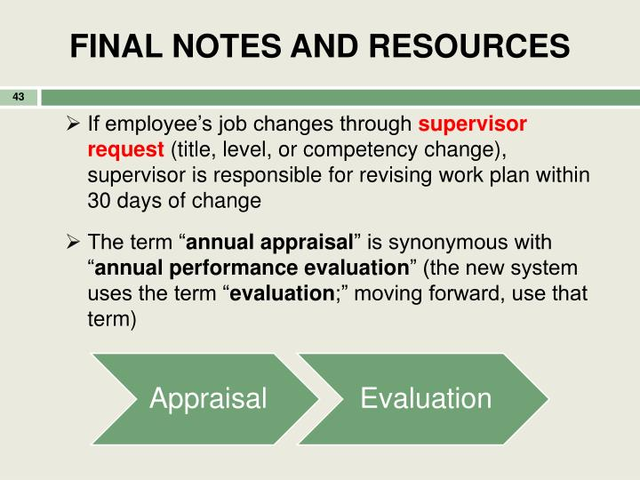 FINAL NOTES AND RESOURCES