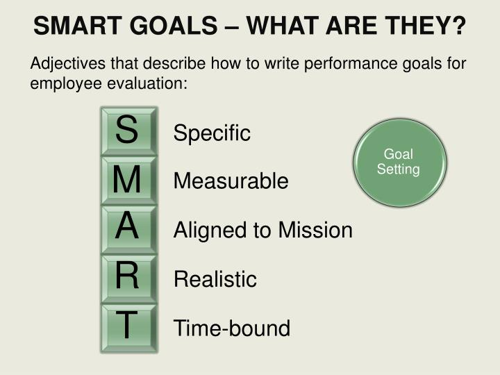 SMART GOALS – WHAT ARE THEY?