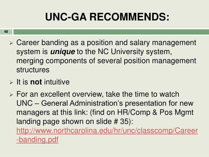 UNC-GA RECOMMENDS: