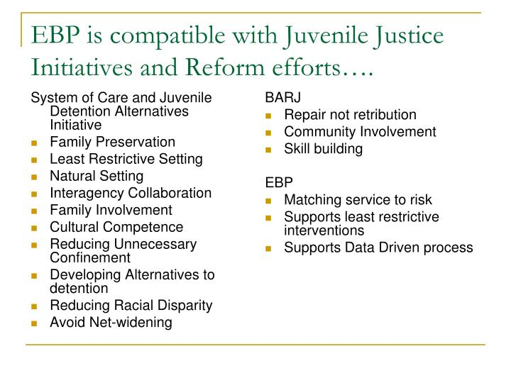 System of Care and Juvenile Detention Alternatives Initiative