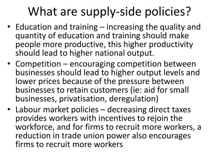 What are supply-side policies?