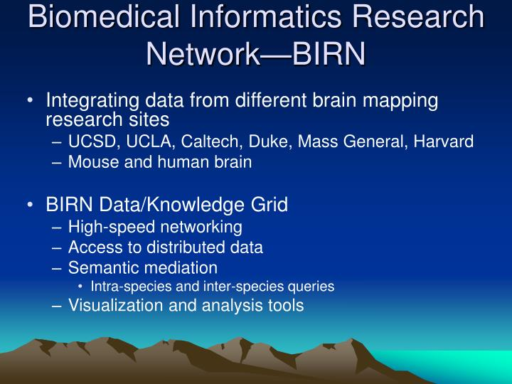 Biomedical Informatics Research Network—BIRN