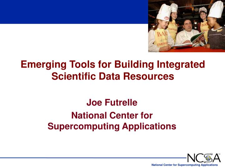 Emerging Tools for Building Integrated Scientific Data Resources